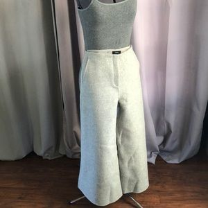 Theory, Henriet cropped woolcashmere wide-leg pant